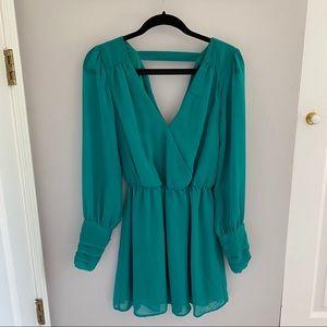Jade Green Chiffon Dress